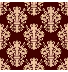 French fleur-de-lis seamless pattern background vector