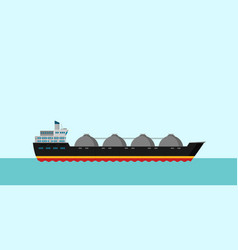 gas tanker flat design vector image