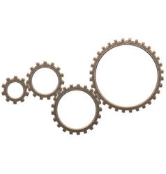 gearwheels mechanism vector image