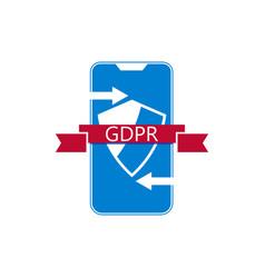 General data protection regulation abbreviation vector