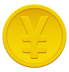 Gold yen vector image
