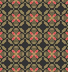 Golden Geometric Seamless Pattern vector image
