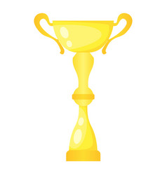 Golden trophy champion cup vector