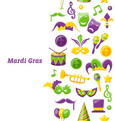 greeting invitation for mardi gras and carnival vector image
