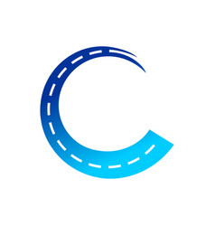 highway coating initial c symbol design vector image
