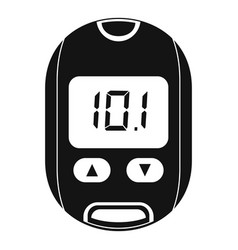 home glucometer icon simple style vector image