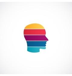 Human head logo template Modern abstract vector