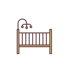 Infant bed concept colored icon cot vector