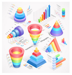 infographics isometric elements vector image