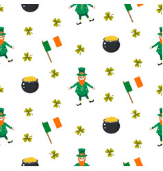 ireland saint patrick seamless pattern vector image