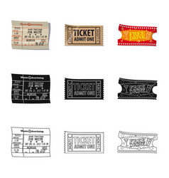 isolated object of ticket and admission symbol vector image