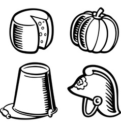Isolated objects vector