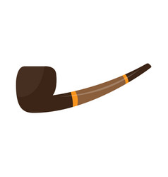 isolated smoking pipe vector image
