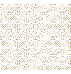 japanese pattern sashiko is a form decorative r vector image