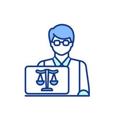 Jurist rgb color icon vector