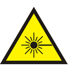Laser radiation sign vector