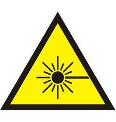 laser radiation sign vector image