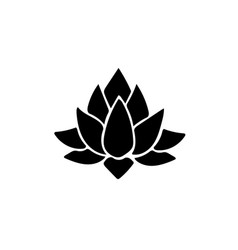 lotus icon isolated vector image