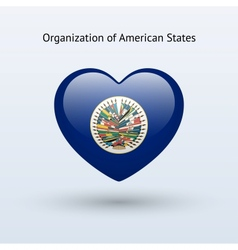 Love organization american states symbol vector