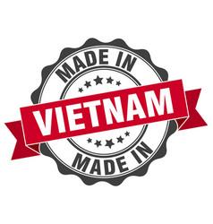 Made in vietnam round seal vector