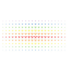 Mining hammers spectral halftone array vector