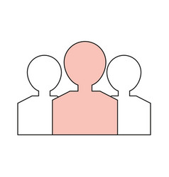 People pictogram silhouette vector