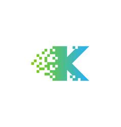 pixel letter k logo icon design vector image