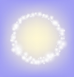 Purple romantic abstrack sparkling circle frame vector