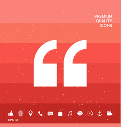 Quote symbol icon vector