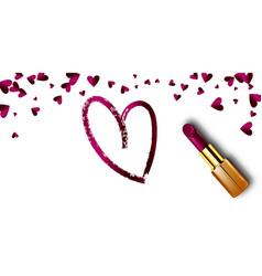 realistic lipstick love sale for woman vector image