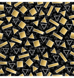 Retro 80s geometry seamless pattern gold shape vector image