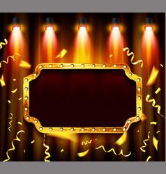 retro light banner frame vector image