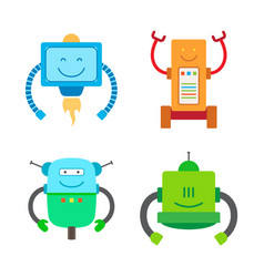 Robotic creatures collection vector