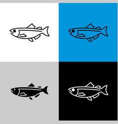 salmon fish icon line style symbol salmon vector image