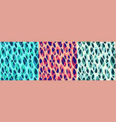 Set abstract modern seamless graphic patterns vector