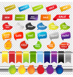 Set of color sale stickers and labels vector