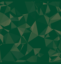 Shiny polygonal background in pine and emerald vector