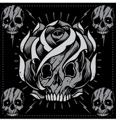 Skulls and Skull Rose shape vector