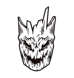 Spooky halloween tree head vector