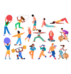 sport activity set cartoon vector image