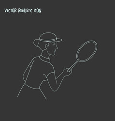 Sport icon line element of vector