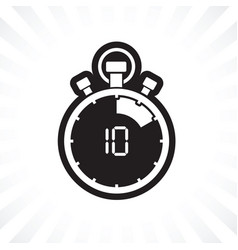 ten minute stop watch countdown vector image