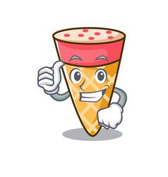thumbs up ice cream tone character cartoon vector image