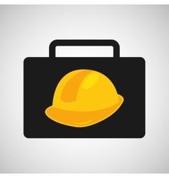tool box helmet construction icon design vector image