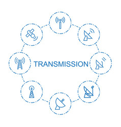 Transmission icons vector