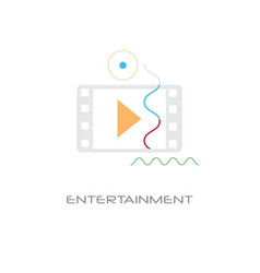 video player entertainment multimedia application vector image