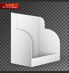 white pos poi cardboard blank empty show box vector image