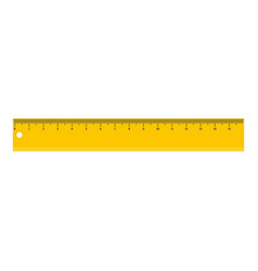 Yellow line icon flat style vector