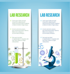 Bacteria and virus banners vector image vector image