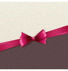 Holiday background with polka dots bow vector image